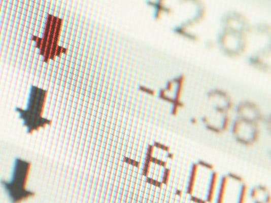 stock price falls