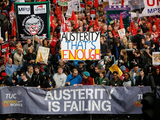 London austerity protest