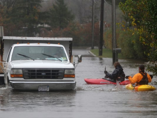 Utility truck kayakers
