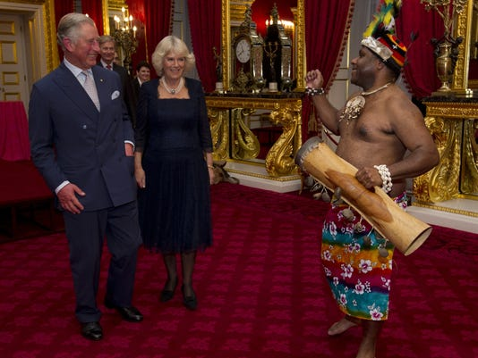 Charles Camilla and Papua New Guinean
