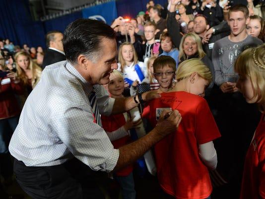 Romney Des Moines