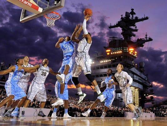 College basketball on ship 11-8-12