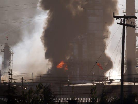Chevron refinery fire
