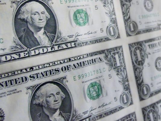 dollar bill sheet