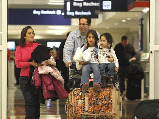 Family holiday travel Dallas airport