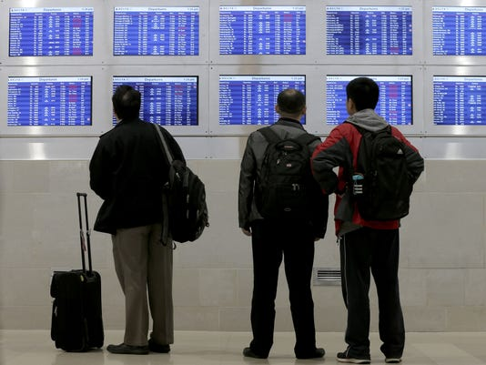 Flight cancellations Detroit airport