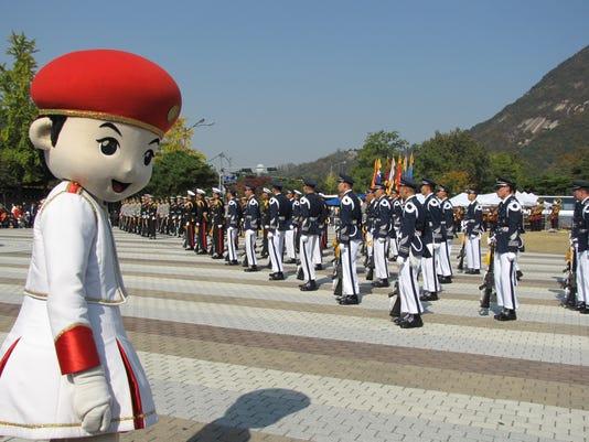 Gangnam Seoul military display