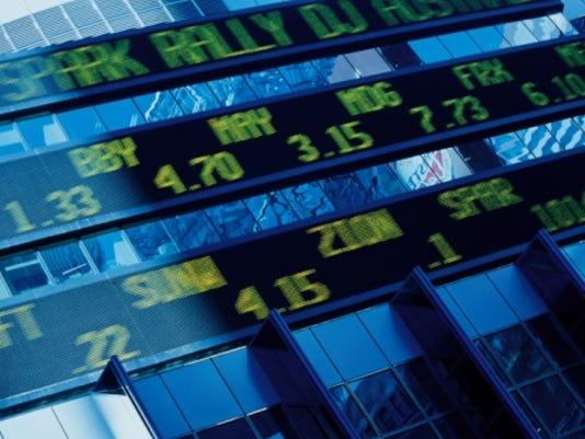 stock ticker display thinkstock