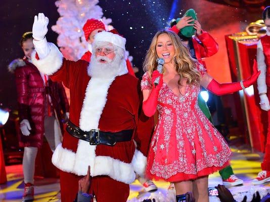 Mariah Carey and Santa