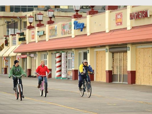 Atlantic City Boardwalk biking