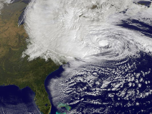sandy satellite