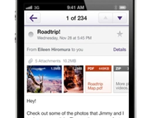 Yahoo email app
