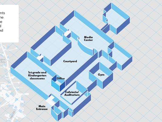 Outline of Sandy Hook Elementary School