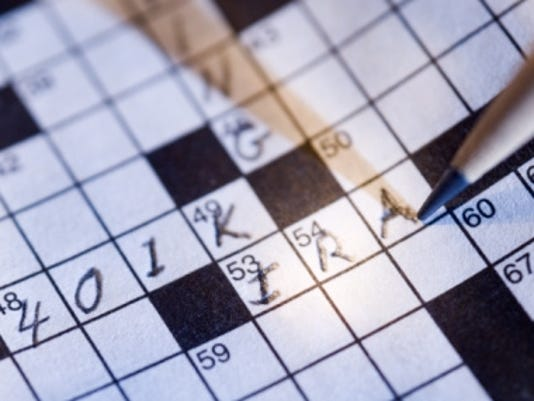 401(k) crossword thinkstock