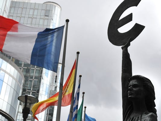 euro sign flags 2012
