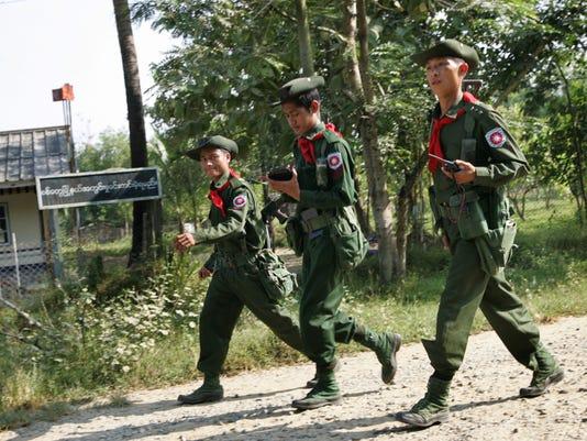 Myanmar army officers