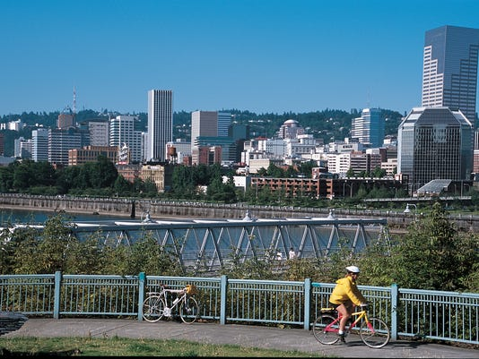 Portland Oregon bike path