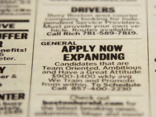 unemployment help wanted ad 2012