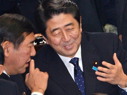 shinzo abe japan prime minister 2012