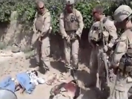 Marines urinating