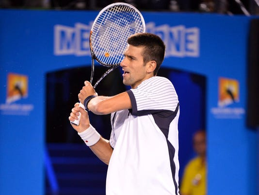 2013-1-22 djokovic into semifinals