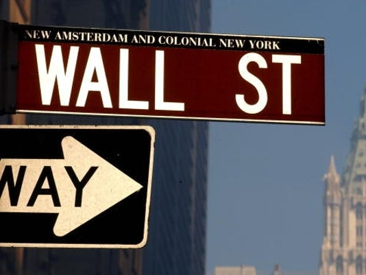 wall street sign 2001