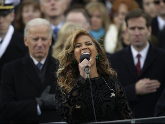 Beyonce at Inauguration