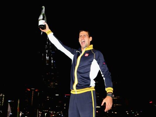 2013-1-27 djokovic champagne