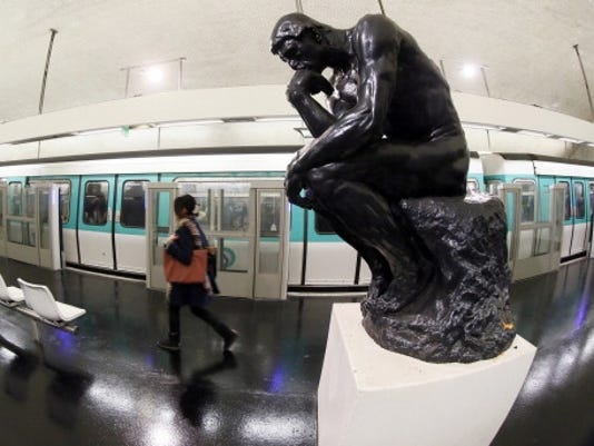 thinker rodin paris stock