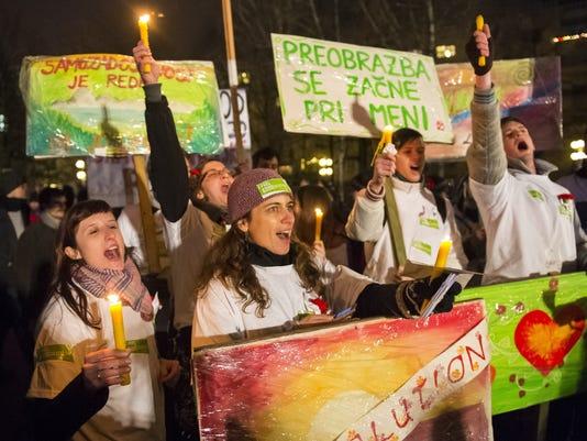 Slovenia protest