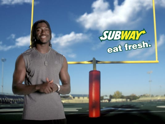 robert griffin redskins subway super bowl 2013