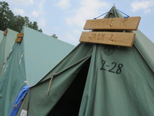 boy scout tent