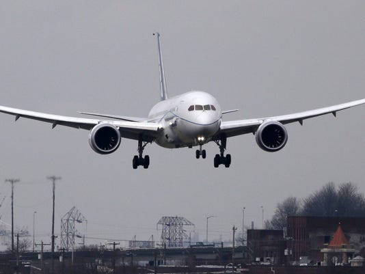 boeing 787 dreamliner test flight