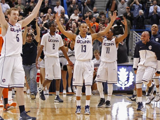 UConn Huskies beat No. 7 Syracuse Orange Uconn Huskies Basketball 2013