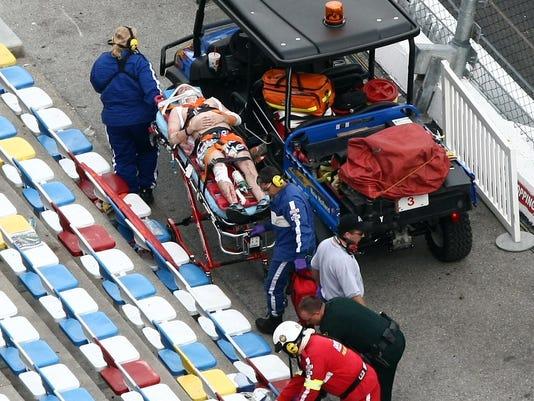20130-02-23 Nationwide Daytona crash fan stretcher