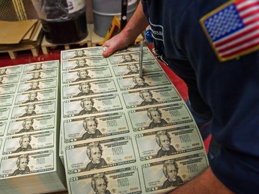 dollar bills engraving 2012
