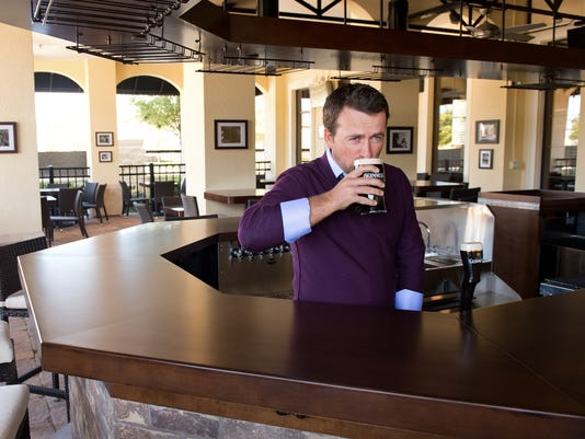2013-3-17 mcdowell restaurant drinking a pint