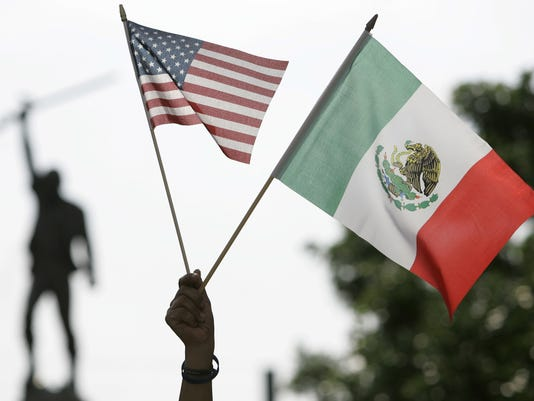 American Flag Mexican Flag
