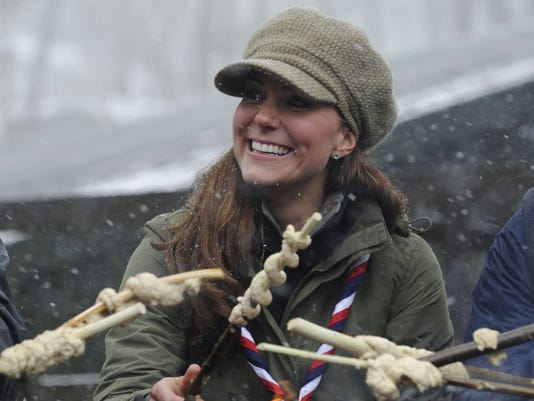 Catherine Duchess of Cambridge at camp