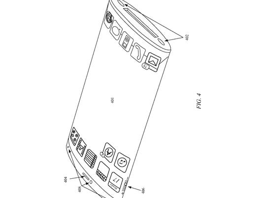 Apple wraparound display patent filing