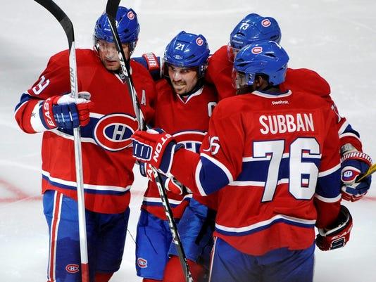 2013-04-06 Canadiens celebrate