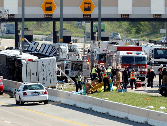 Charter bus crash Dallas