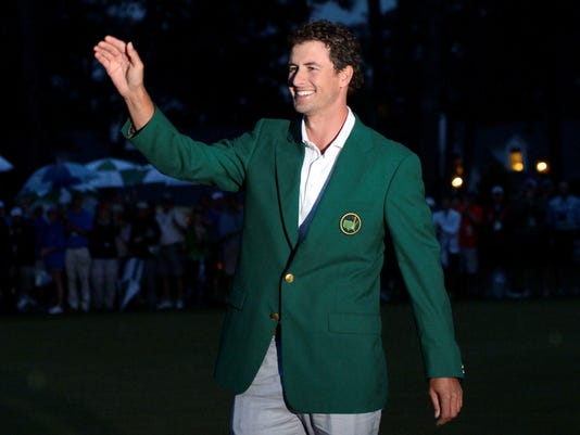 2013-04-14 Adam Scott green jacket