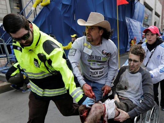 AP APTOPIX Boston Marathon Explosion