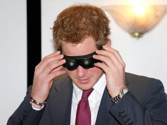 Prince Harry in goggles