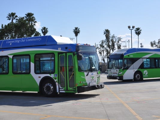omnitrans buses green calif
