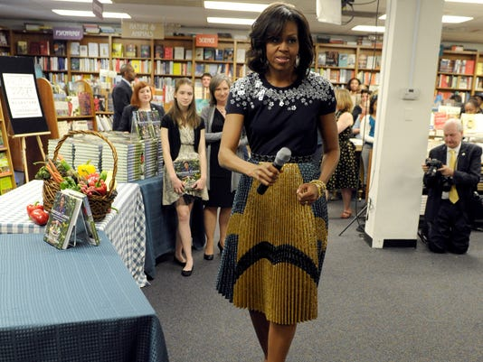 Michelle Obama book signing