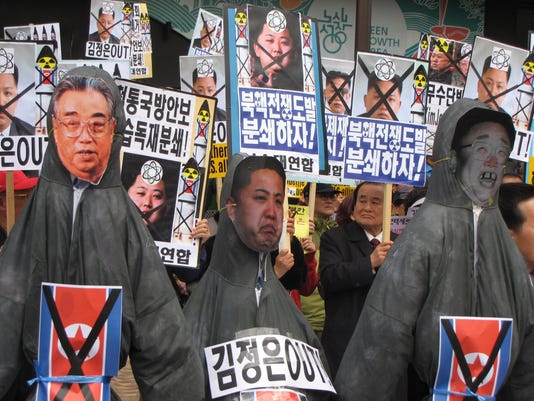 protest north korea
