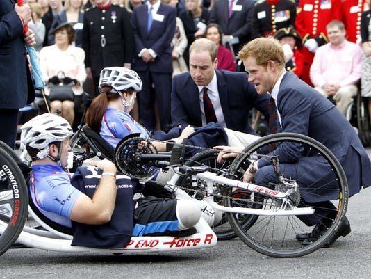 Prince William Prince Harry and bikes