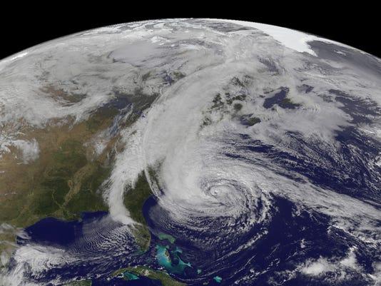 sandy satellite image